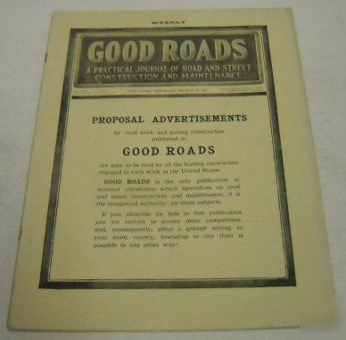 Good roads 1913 magazine vol.5, no. 12