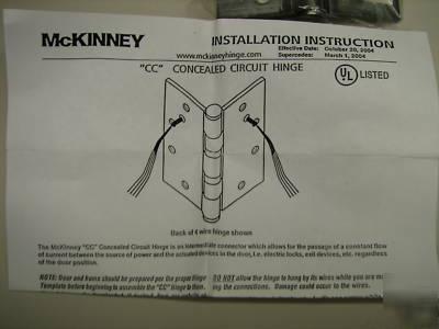New mckinney 41/2X4 electric hinge 8 wire #TA2714